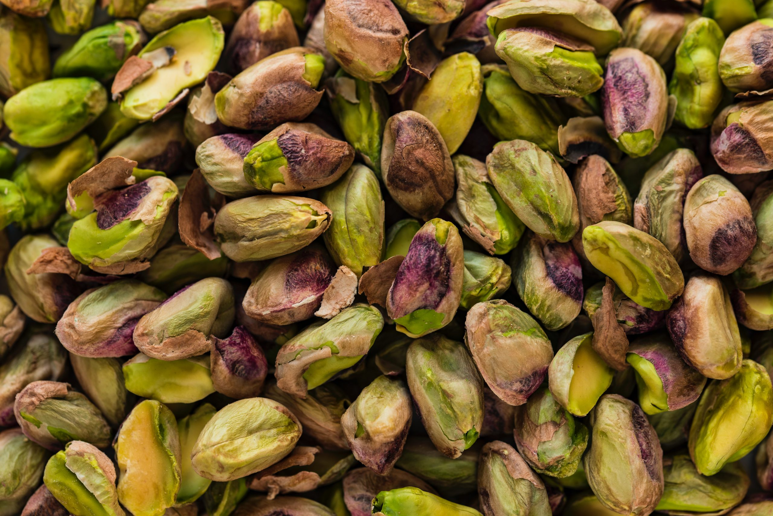 Close up of pistachio kernels